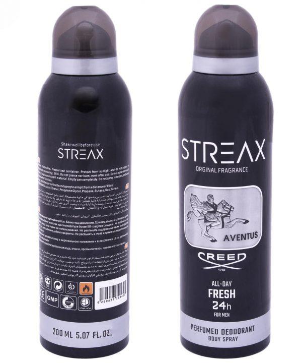 اسپری خوشبو کننده بدن مردانه استریکس مدل Creed Aventus کد AV02 حجم 200 میلی لیتر