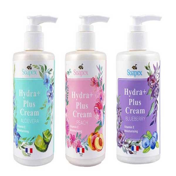 کرم آبرسان هلو سوپکس Soapex Hydra Plus Cream حجم 250 میلی لیتر