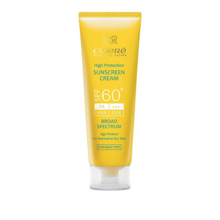 کرم ضد آفتاب سینره مناسب پوست معمولی تا خشک spf 60