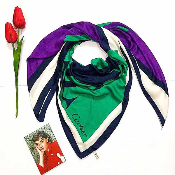 روسری زنانه جنس ابریشم ژاکارد