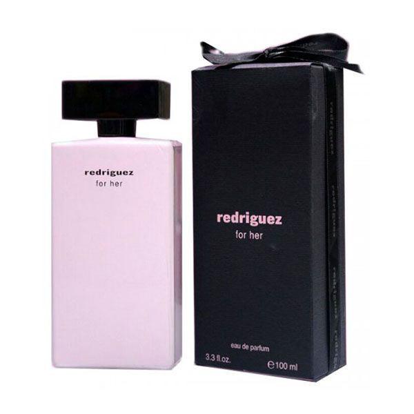ادو پرفیوم زنانه فراگرنس ورد مدل Redriguez For Her حجم 100 میل