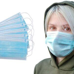 ماسک 3لایه آبی