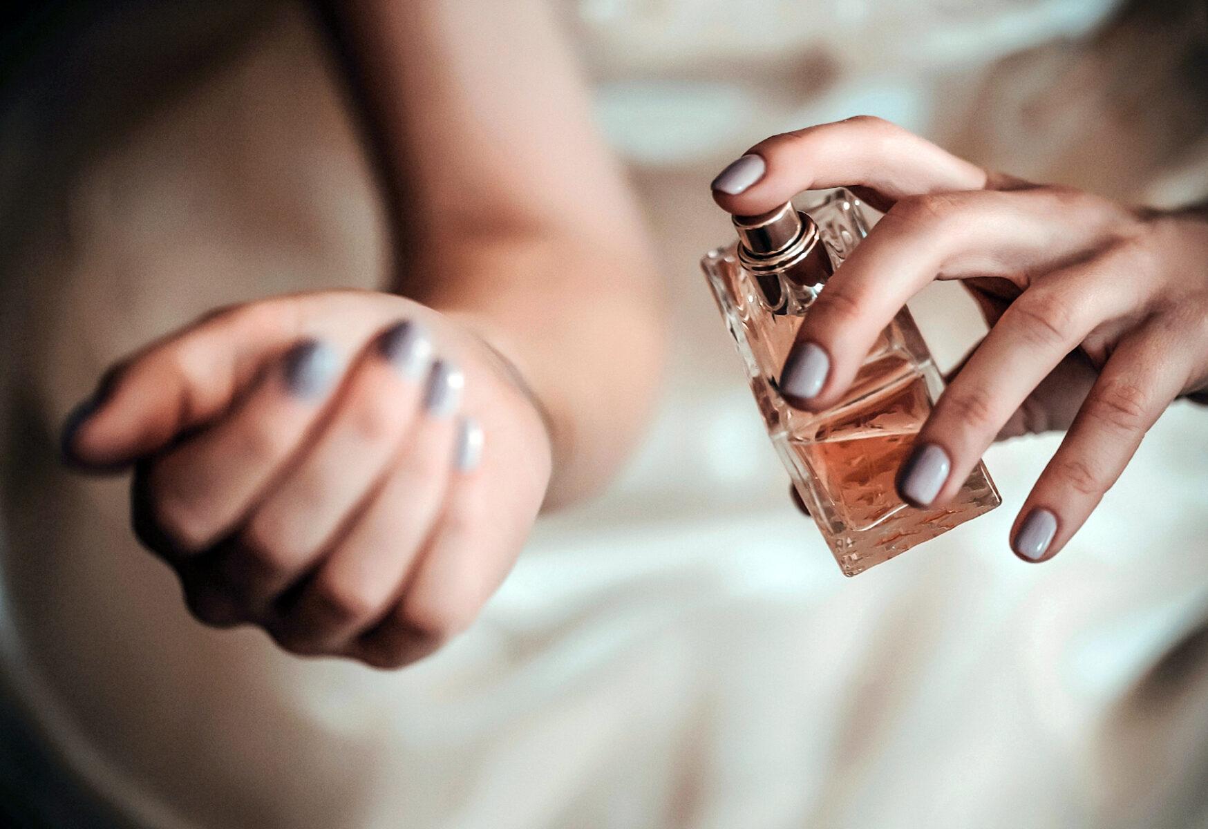 perfume on wrist