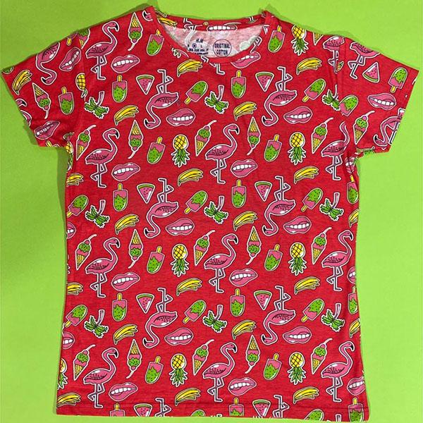 تی شرت زنانه بنگلادشی برند ایچ اند ام