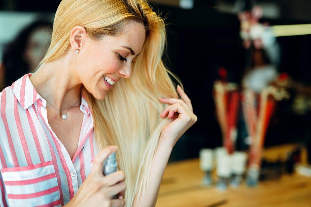 perfume on hair