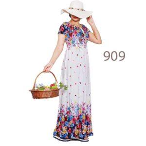 پیراهن ساحلی زنانه تمام نخ کد 909